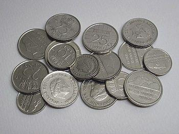 English: Dutch coins made of pure nickel