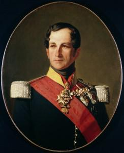 Portrait of Leopold I (1790-1865) of Saxe-Cobourg-Gotha in the Uniform of a Cuirassier (oil on canvas) (Credit: The Bridgeman Art Library/Getty Images)