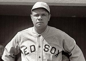 English: American baseball player Babe Ruth, p...