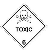 English: Placard for Toxic Substances