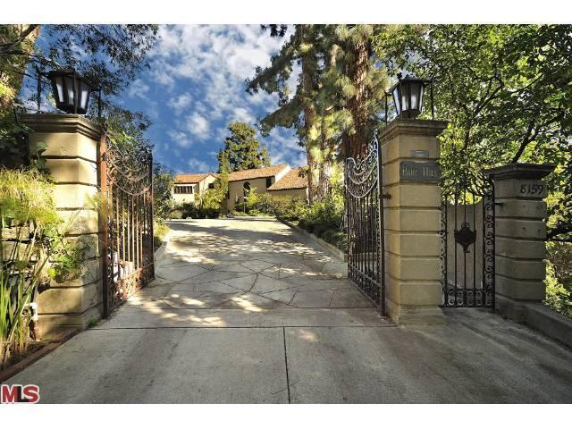 The Spanish-style home is gated and private. Image via Trulia