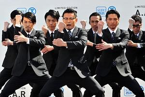 Japanese dancing group 'World order', led by f...