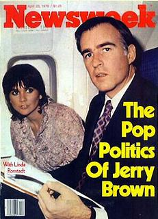 Jerry Brown and Linda Ronstadt on the cover of...