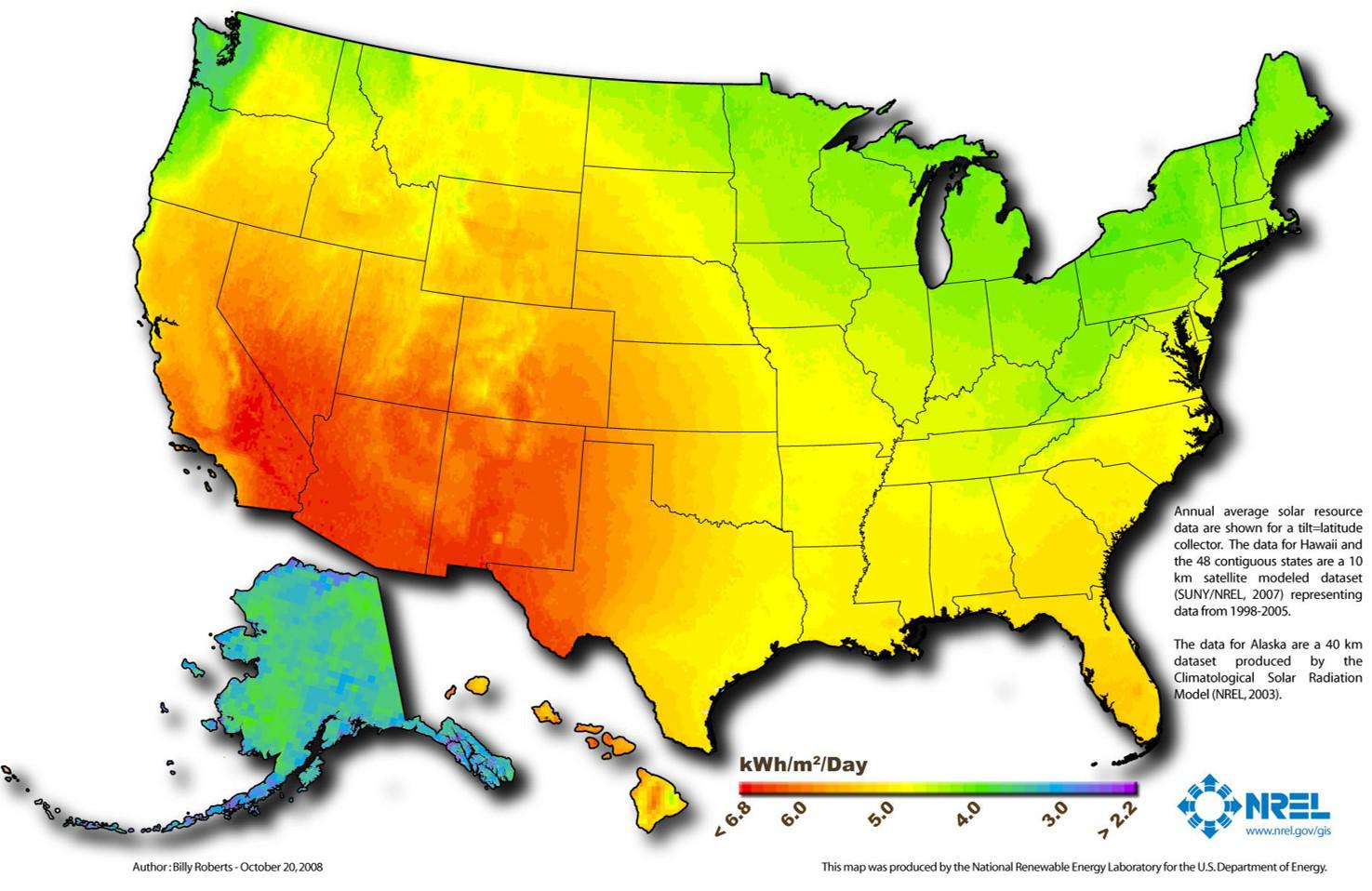 US Solar Photovoltaic Resource Potential