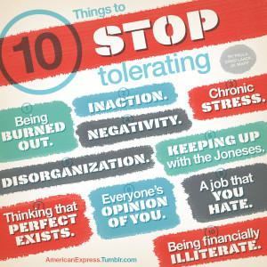 Life Is Stressful: 10 Things To Stop Tolerating
