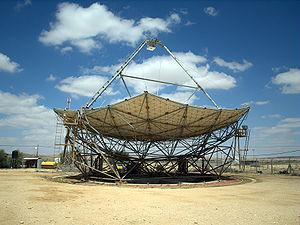 English: The world's largest solar energy dish...