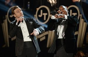 Justin Timberlake and Jay-Z perform at the sta...