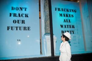Yoko Ono imagines there's no fracking.