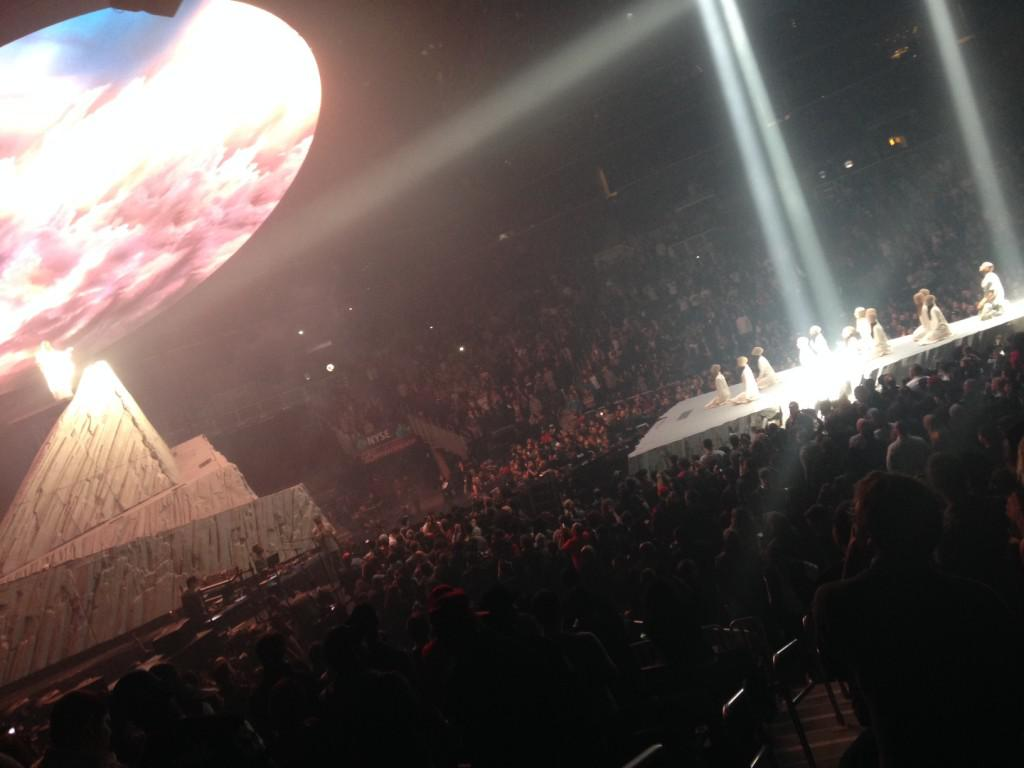 "Kanye West's Yeezus tour, live from New York. Is his latest excusrion more ""artpop"" than Lady Gaga?"