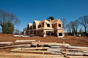 English: New home construction in Rumson, New ...
