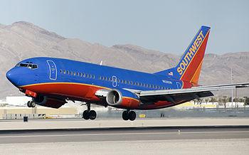 A Southwest Airlines Boeing 737-300 (N626SW) p...