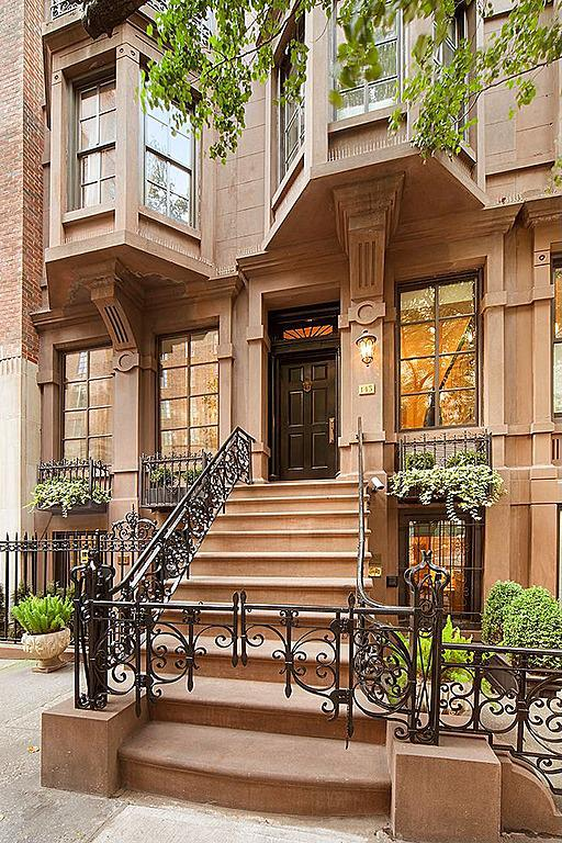 Singer michael feinstein lists double brownstone on upper for Buy an apartment in nyc