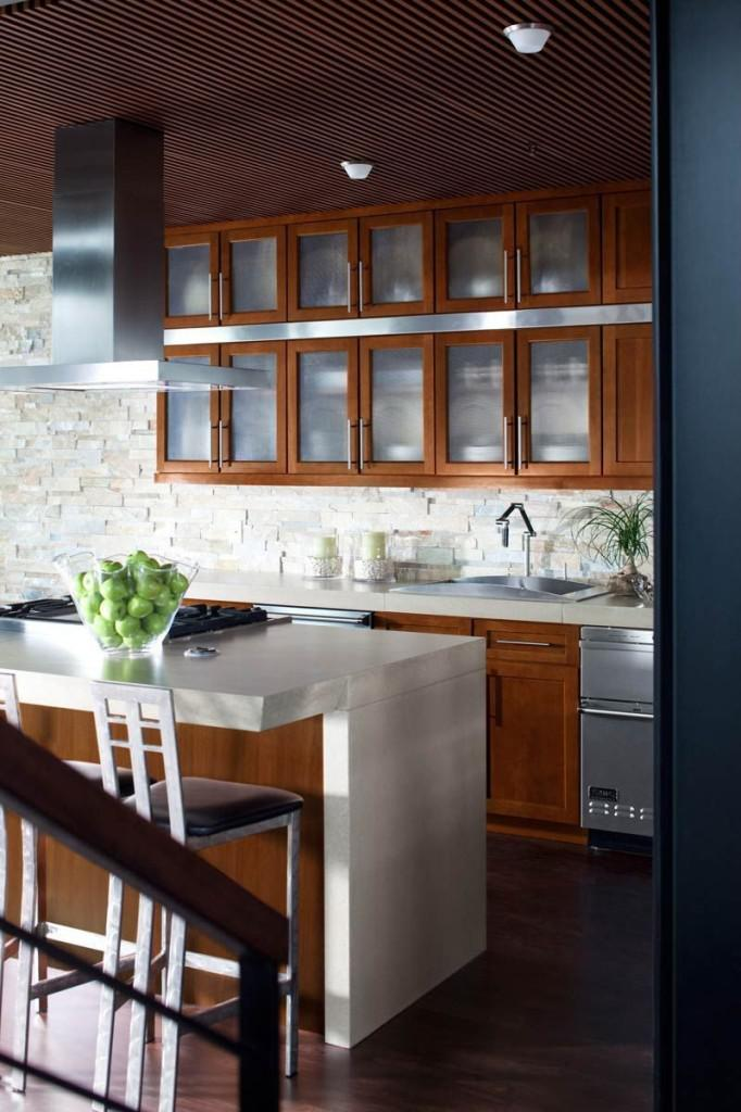 latest kitchen furniture design glass cabinets open shelving big 2014 kitchen trend 6852